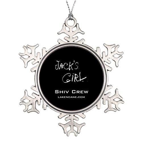 Shiv Snow (OneMtoss Christmas Snowflake Ornament Large Christmas Tree Decorations Shiv Crew Team Jack Personalized Christmas Snowflake Ornament)