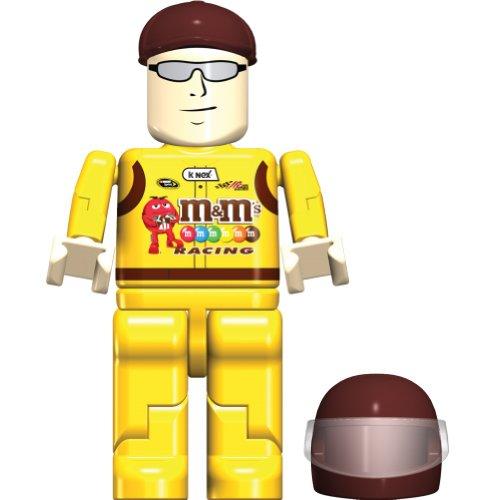 K'Nex Kyle Busch Figure Bag, 36507, 8 Piece Set, NASCAR, M & M's Racing
