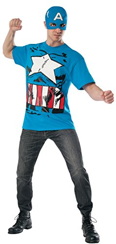 [Rubie's Costume Men's Marvel Universe Classic Captain America T-Shirt/Mask, Multi, Large] (Captain America Classic Costumes)