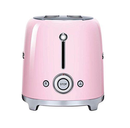 Smeg-TSF02PKUS-50s-Retro-Style-Aesthetic-4-Slice-Toaster-Pink