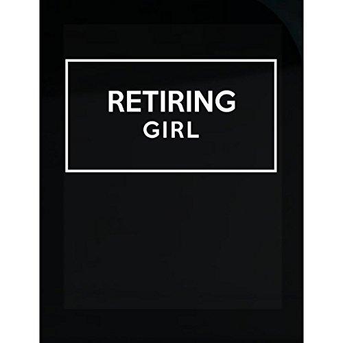 Retiring Girl. Adjectives Funny Gift. - Sticker