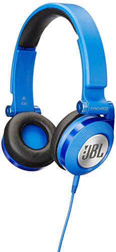 JBL E30 Blue High-Performance On-Ear Headphones with JBL Pure Bass and DJ-Pivot Ear Cup, Blue (Blue Dj Headphones)