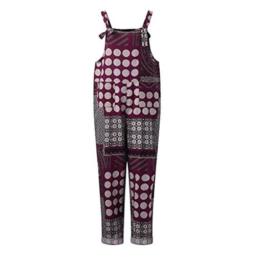 Hibote Mujer Chicas Petos Largo Harem Pantalones Anchos Baggy Palazzo Costura Casual Elegante Algodón Suelto Bolsillos Fiesta Talla Grande M-3XL 1#