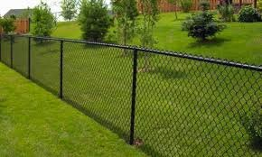 Black Vinyl Coated Chain Link (America's Fence Store 4' x 20' 12-1/2ga KK Chainlink Fabric Residential - Black)