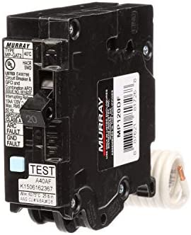 Murray MP120DF 20-Amp AFCI GFCI Dual Function Circuit Breaker, Plug on Load Center Style
