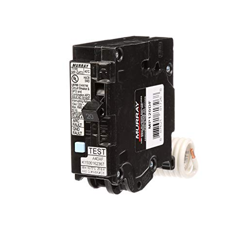 (Murray MP120DF 20-Amp AFCI/GFCI Dual Function Circuit Breaker, Plug on Load Center Style)
