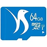 FATTYDOVE Micro SD Card 64GB Microsd Card Class 10 UHS-I High Speed SDXC Memory Card with Adapter for Kindle Fire/Tablet/GoPro(64GB-U1)