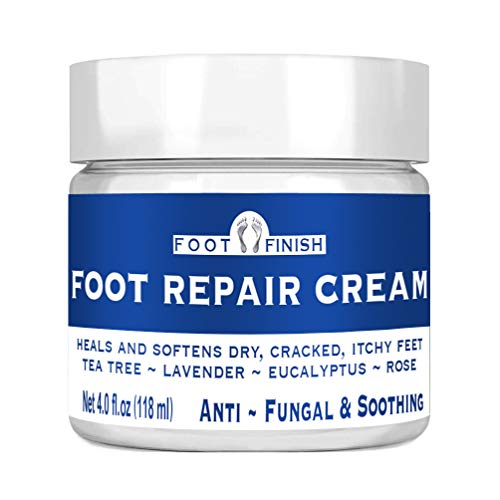 Toenail Fungus Treatment, Antifungal Cream, Athletes Foot, Foot Fungus, Dry Cracked Feet and Smelly Feet. with Essential Oils - Tea Tree Oil, Rose Oil, Lavender Oil. Antifungal Treatment Foot Repair