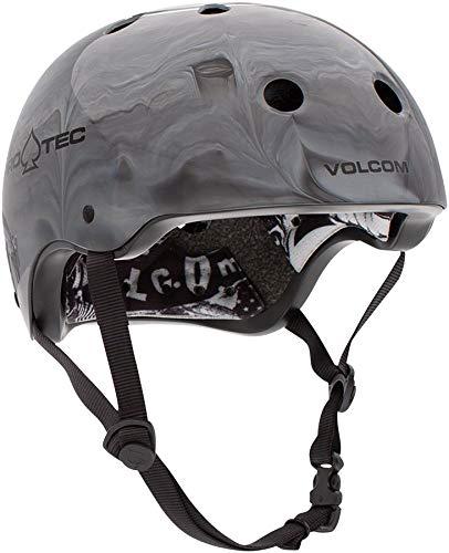(Pro-Tec Cosmic Matter Volcom Collaboration Classic Certified Skateboarding Helme (XL, Grey))