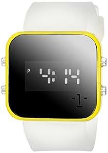 """1Face Unisex W0313 YC """"Water"""" Digital Display Clear Watch"""