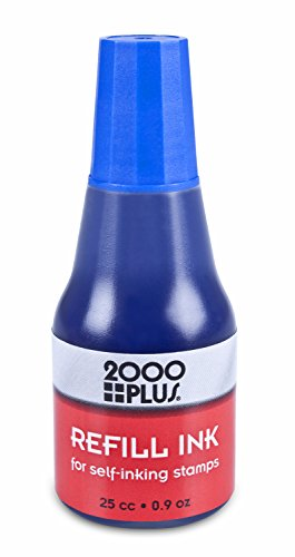 - Cosco Self-Inking Stamp Ink Refill, 25 cc, 0.9 oz. (Blue)