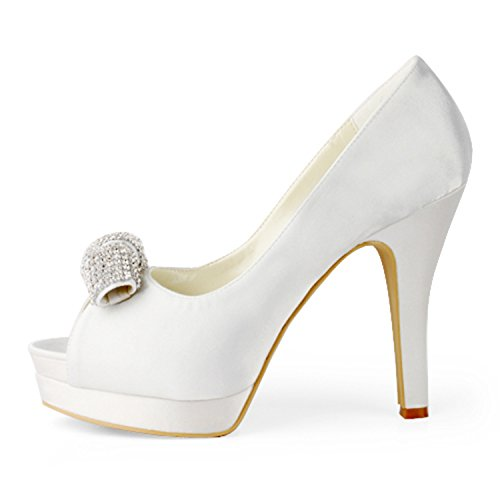 13cm Minitoo Ivory Beige 1o006aq Pour 38 Heel Femme Escarpins qE7zYt5w