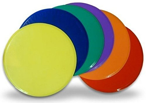 CSI Cannon Sports Poly Spot Markers, Assorted Colors, Set of 6