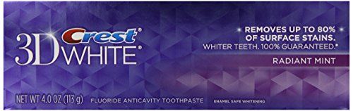 Crest 3d White Radiant Mint Flavor Whitening Toothpaste 4 oz., 6 Count