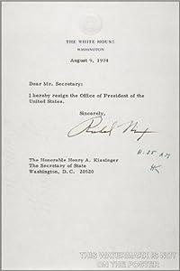 Amazon.com: President Richard M. Nixon Resignation Letter - 24\