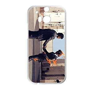 HTC One M8 Cell Phone Case White Pink Floyd Rock Band AOF Tough Phone Cases