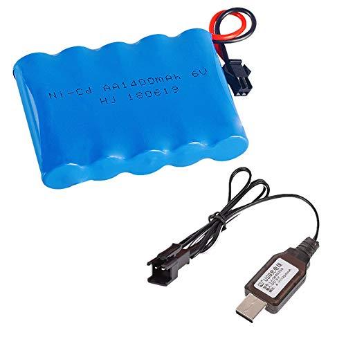 Bateria Ni-CD AA X 5 1400mAh 6V SM-2P Plug con cable usb