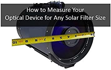 Glass Solar Filter Fits: Celestron 9 /¼ S-C Celestron StarHopper 8/″ Dobsonian ST1075G Glass Solar Filter 10.75
