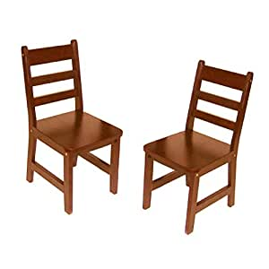 Lipper International 523/4C Child's Chairs, Set of 2, Cherry