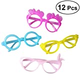 TOYMYTOY 12pcs Candy Colors Glasses Frame Wizard Funcy Dress-up Frame Glasses Costume Eyewear