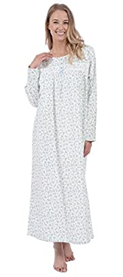 "Patricia Women's Cotton Print 50"" Soft Flannel Long Nightgown"