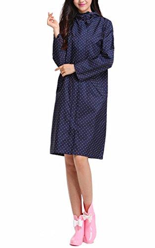 Awake Femmes Facile Port Impermable Rain Coat Wind Coat EVA 1 Par Paquet Bleu