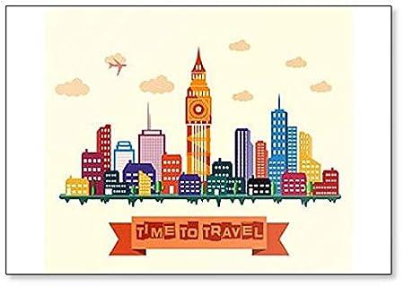 Imán clásico para nevera de la ciudad de Londres Skyline, hora de ...