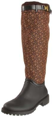 DKNY Women's Cascade Boot,Brown Logo,6 M US