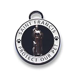 Luxepets Pet Collar Charm, Saint Francis of Assisi, Small, White