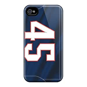 New ChrismaWhilten Super Strong New England Patriots Cases Covers For Iphone 4/4s