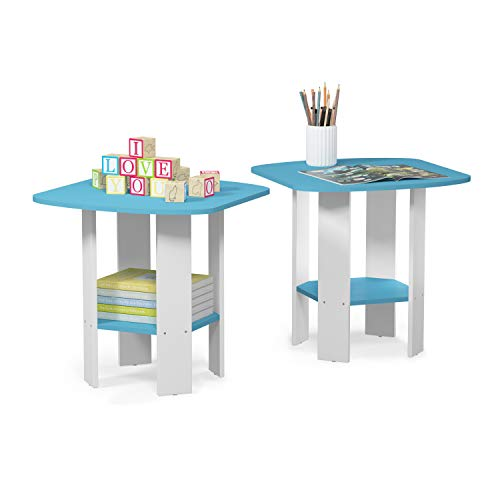 FURINNO Simple Design End Table French Oak