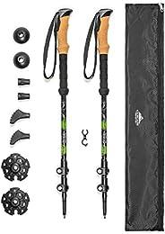 Cascade Mountain Tech Trekking Poles - Aluminum Hiking Walking Sticks with Adjustable Locks Expandable to 54&q
