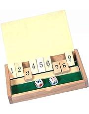 De kleine tactici, spel, kinderspel van hout, met Minis puntenstandaard, spel, kinderspel van hout, reisspel, shut the box, 2 personenreisspel, de kleine tactici, 2 personen