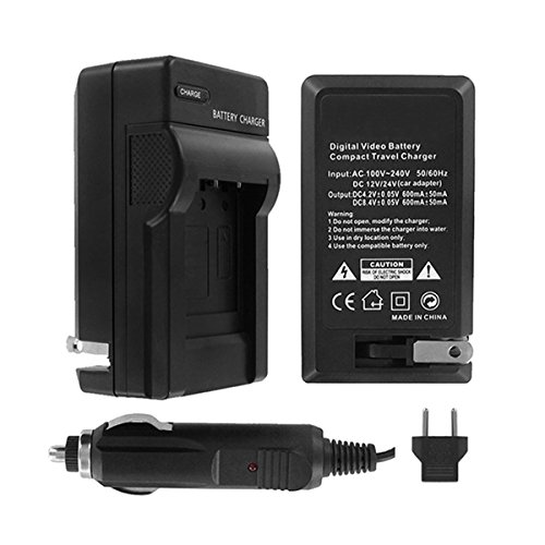UltraPro Nikon D3100 Digital Camera Battery Charger (110/220v with Car & EU adapters) - UltraPro Replacement Charger for Nikon MH-24 Charger