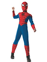 Rubies Costume Marvel Universe Ultimate Spider-Man 2-in-1 Reversible Spider-Man/Venom Muscle Chest, Child Small