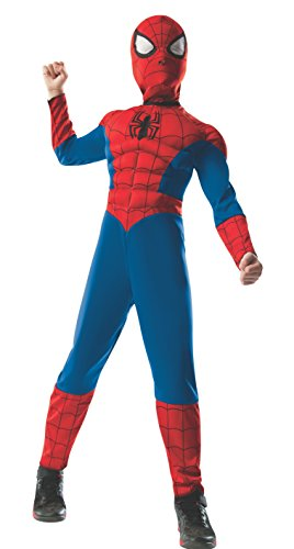 Rubie's Marvel Ultimate Spider-Man 2-in-1 Reversible Spider-Man / Venom Muscle Chest Costume, Child Small - Small One (Spiderman Venom Costume)