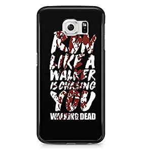 Samsung S6 Case The Walking Dead case Walker Chasing Tv Show-Durable Hard Plastic Wrap Around Phone Cover