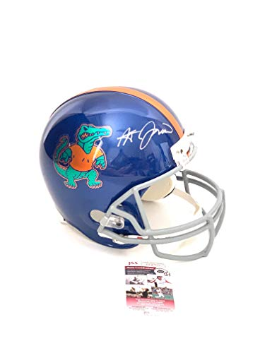 Steve Spurrier signed Full Size Custom Helmet Florida Gators Chrome Decals JSA (Florida Gators Helmet Decal)