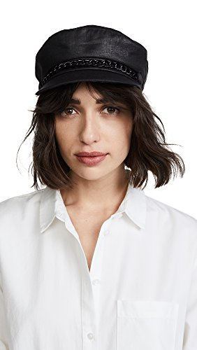 Eugenia Kim Women's Marina Newsboy Cap, Black, One Size by Eugenia Kim