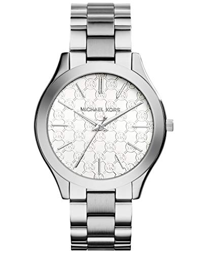 Michael Kors Women's 'Slim Runway' Japanese Quartz Movement Stainless Steel Watch, Color:Silver-Toned (Model: MK3371) (Slim Runway Stainless Steel Watch)