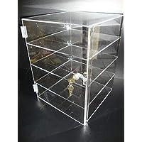"305 Displays Acrylic Countertop Display Case 12"" x 12"" x 16"" Locking Security Showcase"