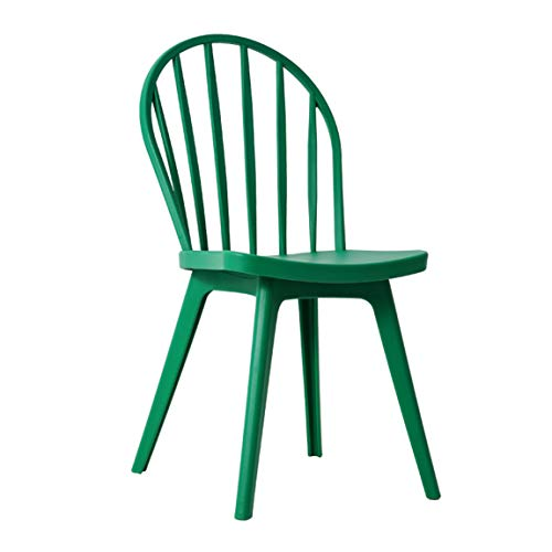 (Lyqqqq Bar Stool Nordic Modern Leisure Dining Chair Creative Plastic Chair Back Living Room Ins Home Windsor Phoenix Chair Plastic (Color : Green))