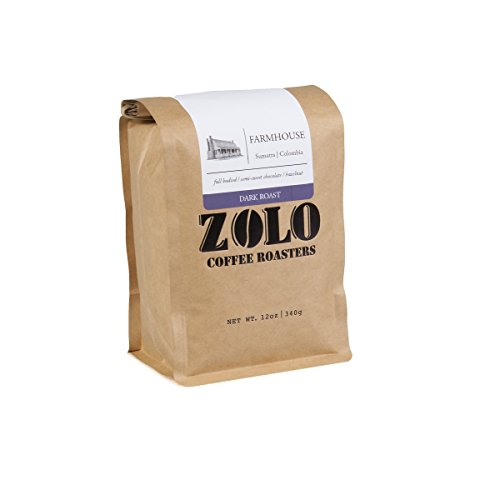 Zolo Coffee Roasters Farmhouse French Medium-Dark Roast Fresh Roast Whole Coffee Beans 12 oz… - Semi Sweet Coffee