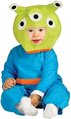 Disfraz de Marciano verde para bebé - 1-12 meses: Amazon.es ...