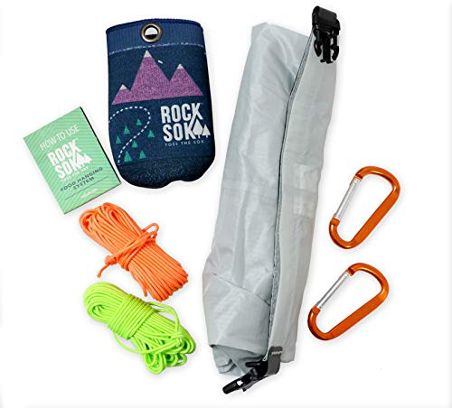 - Selkirk Design Ultralight Food Bag Hanging System - Includes a Waterproof Odor Resistant Bear Bag, Pulley System with Paracord Nylon Ropes & Carabiners, Rock Sok, and Instructions