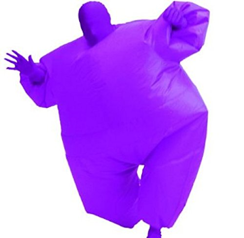 [TV Store Men's Inflatable Adult Costume, Blue, Adult Standard] (Inflatable Chub Suit Costume)