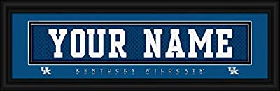 Kentucky Wildcats - Personalized Jersey Nameplate - Framed Poster Print