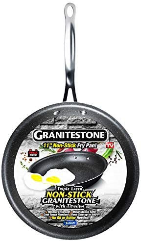 GRANITESTONE Non-stick, No-warp, Mineral-enforced Frying Pans PFOA-Free As Seen On TV 11-inch