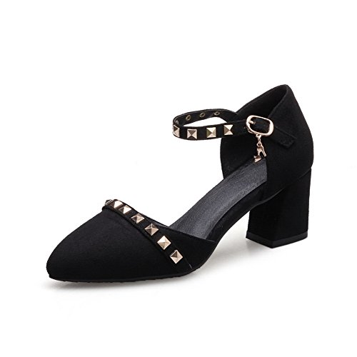 BalaMasa Womens Studded Non-Marking Structured Urethane Sandals ASL05066 Black