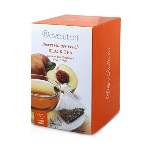 Revolution Tea Sweet Ginger Peach Black Tea, 20 Count